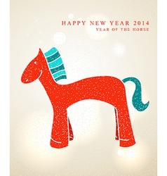 Chinese New Year 2014 Cute cartoon horse vector image