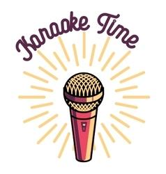 Color vintage karaoke emblems vector image vector image