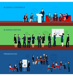 Conference Horizontal Banners vector image
