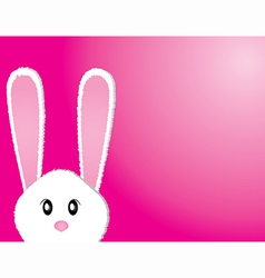 Cute bunny card vector