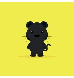Cute Cartoon Panther vector image vector image