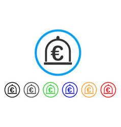 euro storage rounded icon vector image
