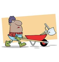 Farmer cartoon vector image vector image