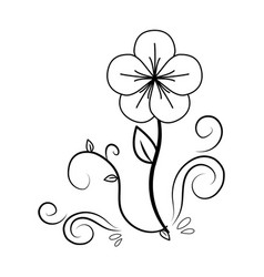 Figure beauty flower ornamental decoration vector