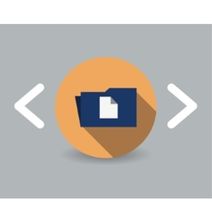 Folder with documents icon vector