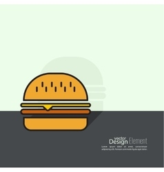 Hamburger icon on background vector