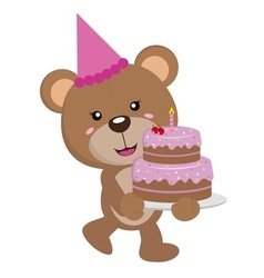 Happy birthday bear 4 copy vector