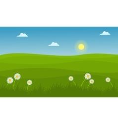 Hill landscape at spring vector