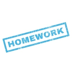 Homework Rubber Stamp vector image vector image