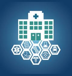 Hospital medical service health vector