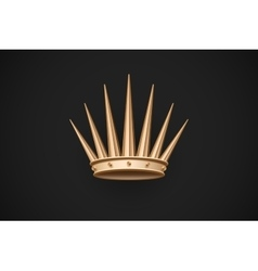 Icon of old royal crown on a dark black background vector image vector image