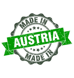 Made in austria round seal vector