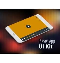 Media player mobile app UI smartphone mockup vector image vector image