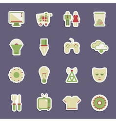 media stickers vector image vector image