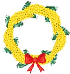 mimosa garland vector image
