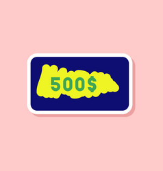 paper sticker on stylish background scratch card vector image