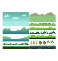 platformer game assets vector image