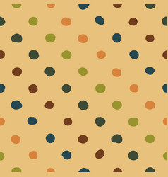 Polka dots seamless pattern colorfu vector