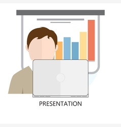 Presentation Icon Flat Design vector image