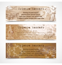 Science sketch vintage banners vector