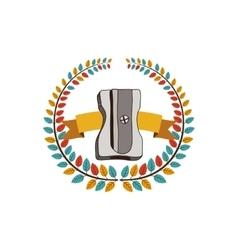 Sharpener school utensil vector image