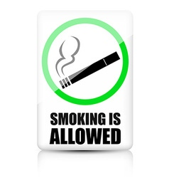 Smoking allowed sign vector image vector image
