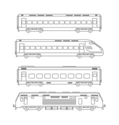 trains line drawing vector image