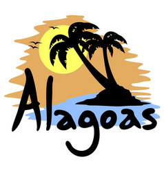 Alagoas love message vector