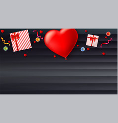 red inflatable balloon in the shape of a heart vector image
