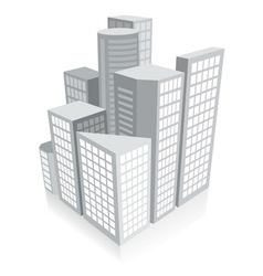 3d city concept vector