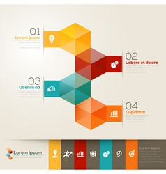 Isometric shape design layout vector