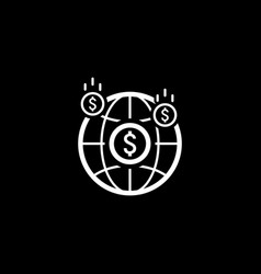 Money income icon business concept flat design vector