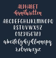 White handwritten latin calligraphy brush script vector