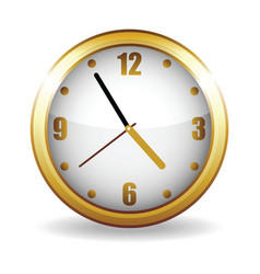 Gold clock vector