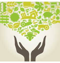Hand agriculture vector