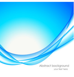 Abstract wavy bakground in blue color vector image