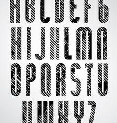 Grunge black grated lower case letters decorative vector image