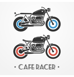 Two retro motorcycles vector
