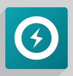 Flat lightning icon vector