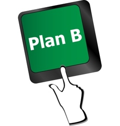 Plan b key on computer keyboard - business concept vector