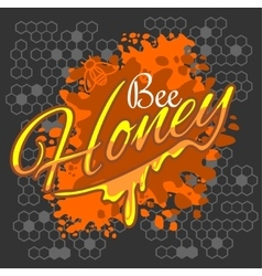Honey and bee label vector