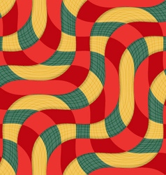Retro 3d yellow red overlapping waves with texture vector