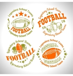 American football vintage labels for poster vector