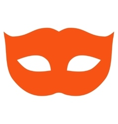 Privacy mask flat orange color icon vector
