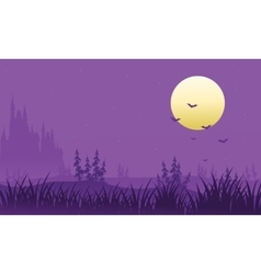Full moon at halloween bat vector