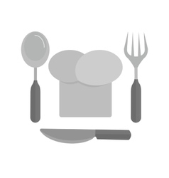 Chef hat and cutlery vector