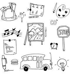 Doodle school stock art vector