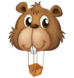 A big brown beaver balloon vector image vector image