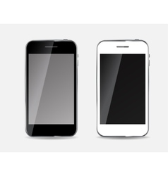 Abstract design black and white mobile phones vector