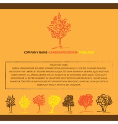 Autumn design concept vector image